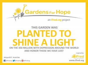 Gardens for Hope Sign