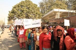 Protest against mental violence
