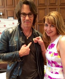 Penny Tate and Rick Springfield